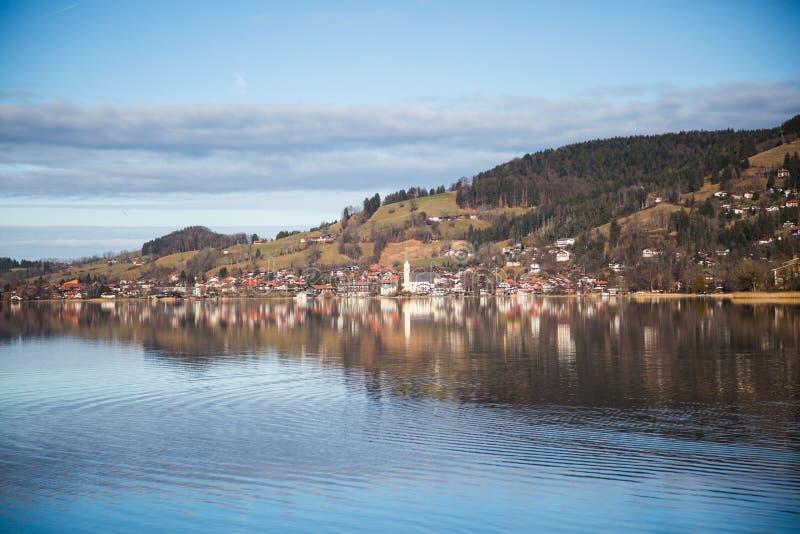Озеро Schliersee в Баварии стоковые фото