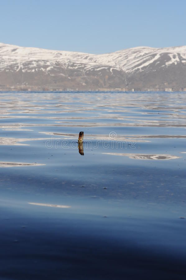 озеро sevan стоковое изображение