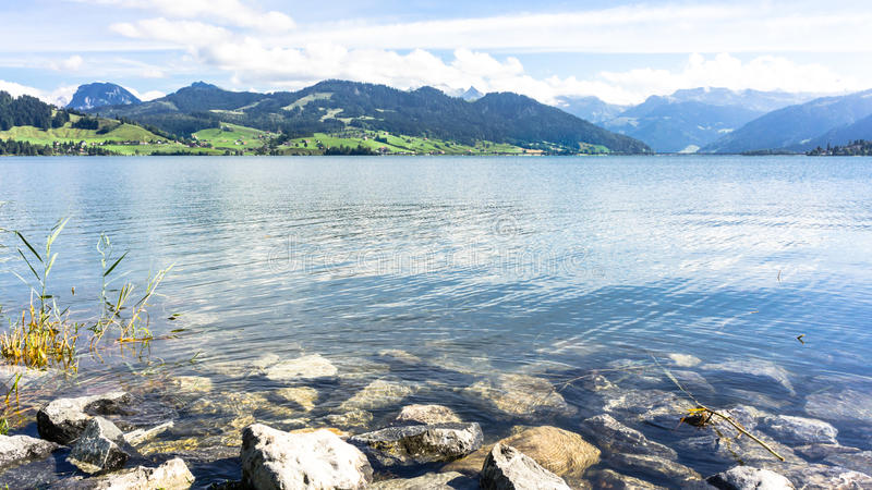Озеро Sihl - Швейцария стоковое фото rf