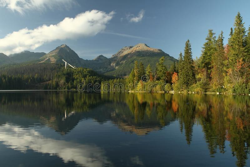 Озеро Strbske стоковая фотография rf