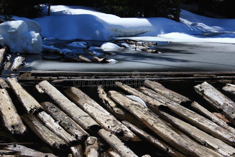 Озеро Talapus Snowy, WA стоковые изображения rf