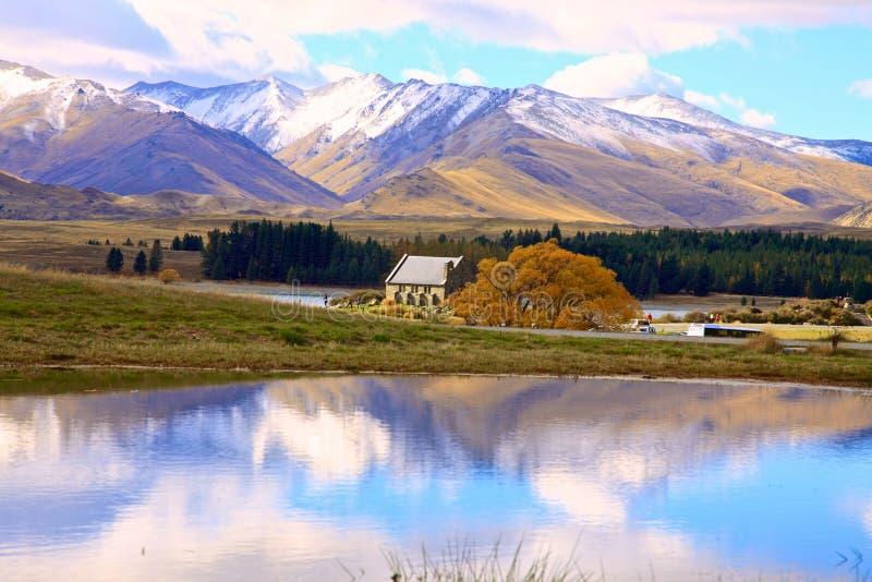 Озеро Tekapo, южный остров Новая Зеландия стоковое изображение rf
