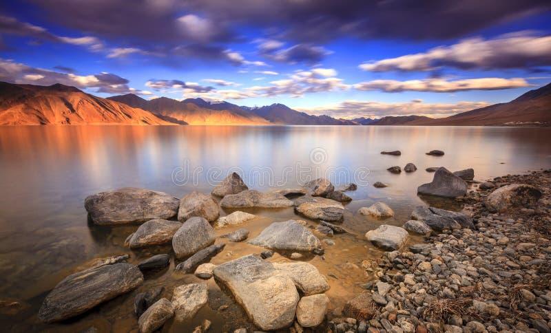 Озеро Tso Pangong стоковое фото