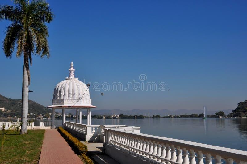 Озеро Udaipur Fateh Sagar стоковая фотография
