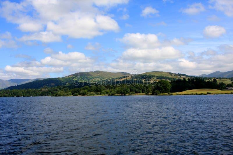 Озеро Windermere, Cumbria, Англия стоковые изображения rf
