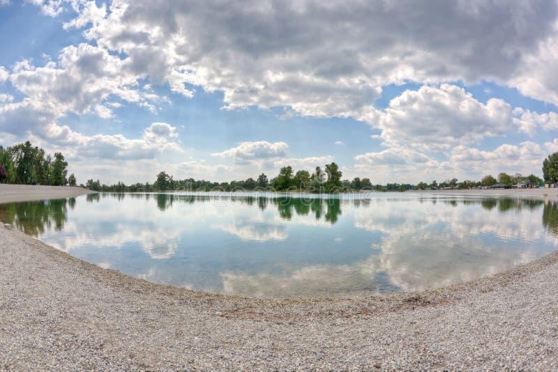 озеро zagreb jarun стоковая фотография