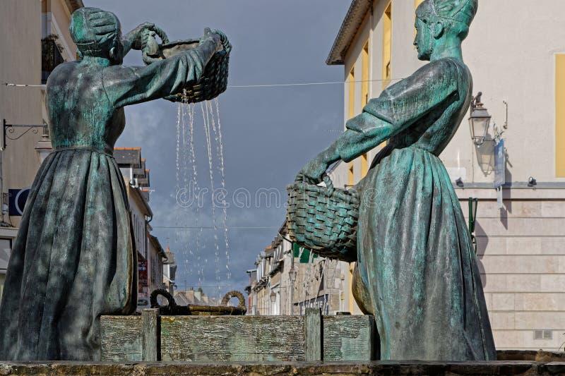 Ойстер Стирка фонтана для женщин в Канкале стоковые изображения