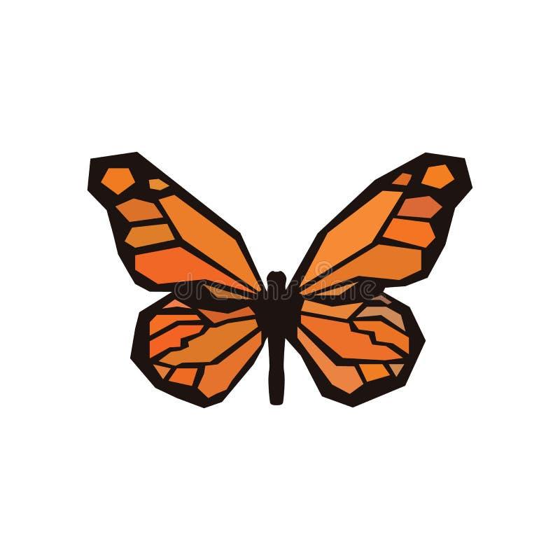 Окаменелая бабочка с покрашенными крыльями бесплатная иллюстрация