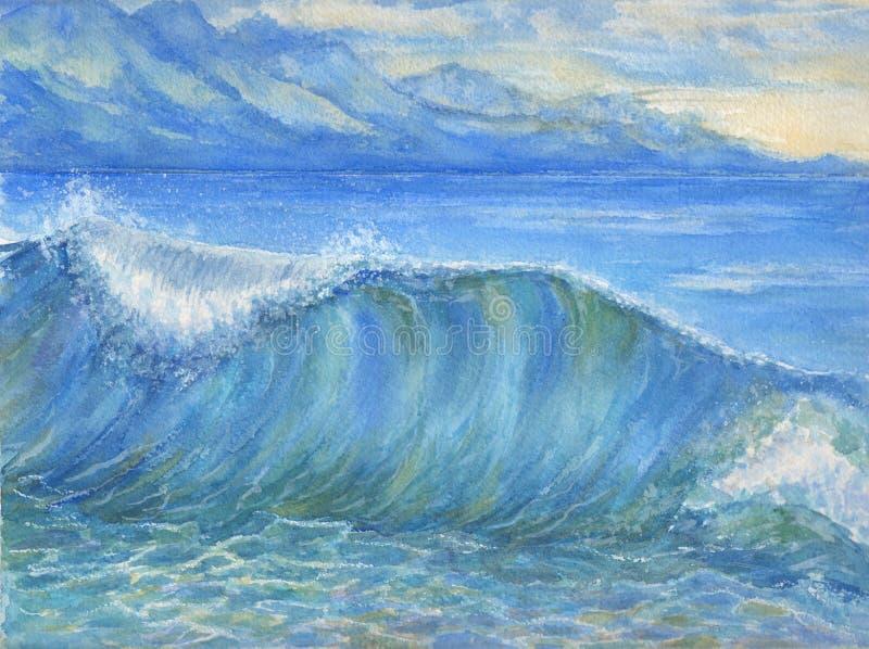Океанская волна иллюстрация штока