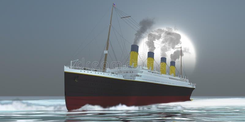 Океанский лайнер бесплатная иллюстрация
