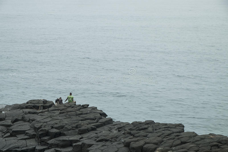 Океанский бассейн тропического острова Sao Tome стоковые изображения