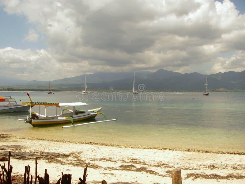 Океан бирюзы и пляж paradisiaque стоковые изображения