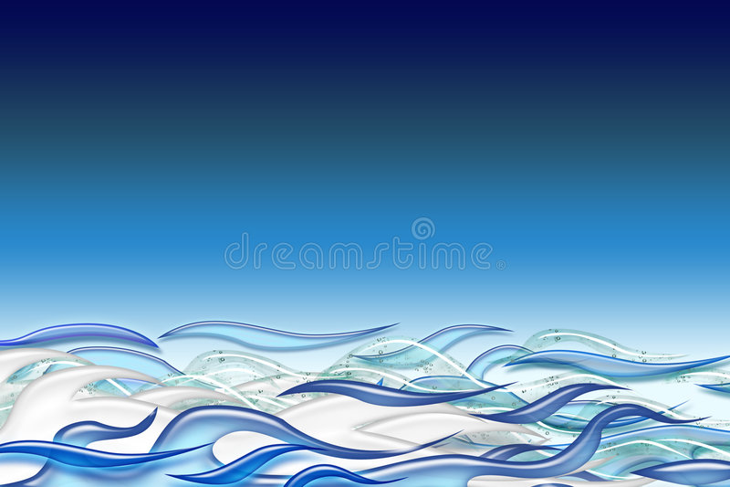 океан волнистый бесплатная иллюстрация