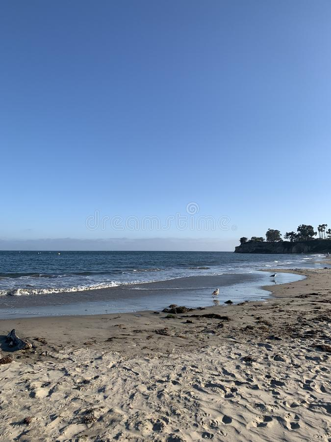Океан в Санта-Барбара стоковое фото