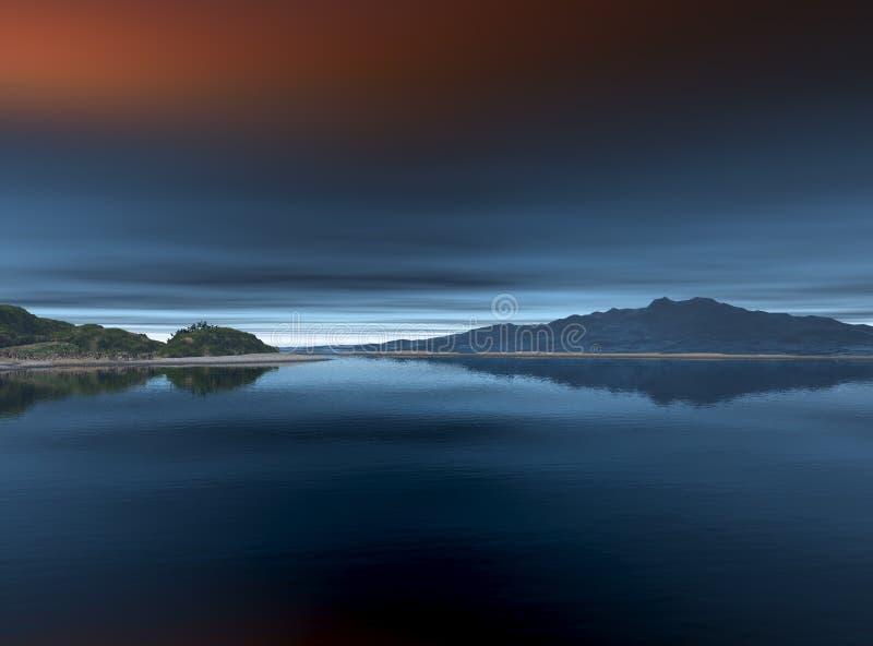 океан гор стоковое изображение rf