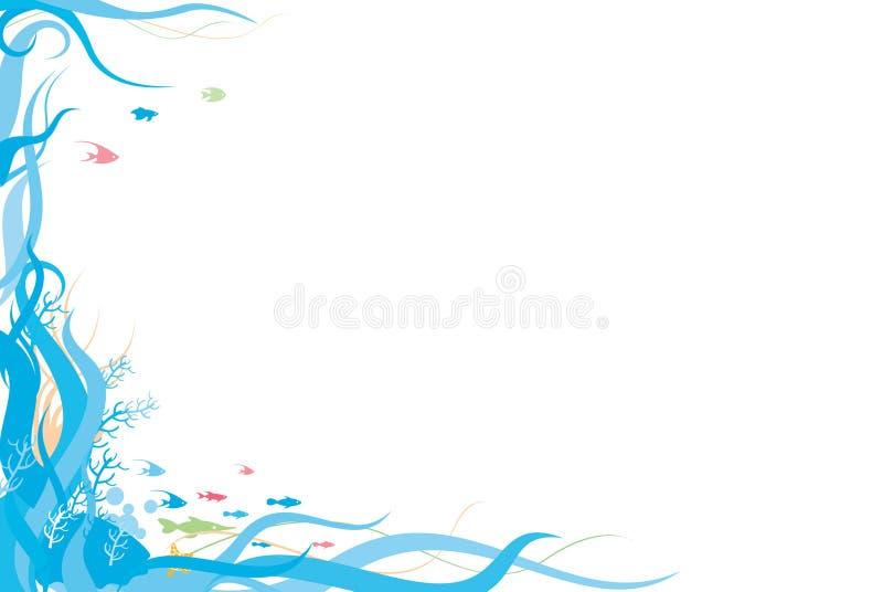 океан граници иллюстрация штока