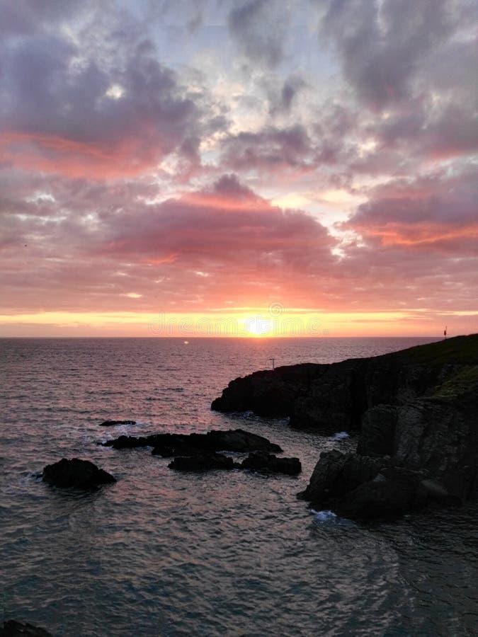 Океан на Уэльсе стоковое фото