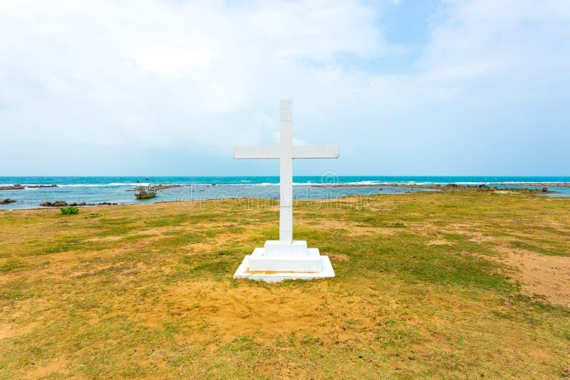 Океан h креста церков Педра St. Thomas пункта Джафны стоковое изображение