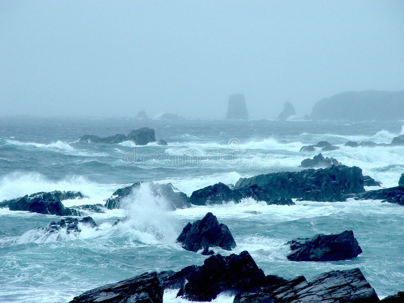 океан newfoundland стоковое изображение rf