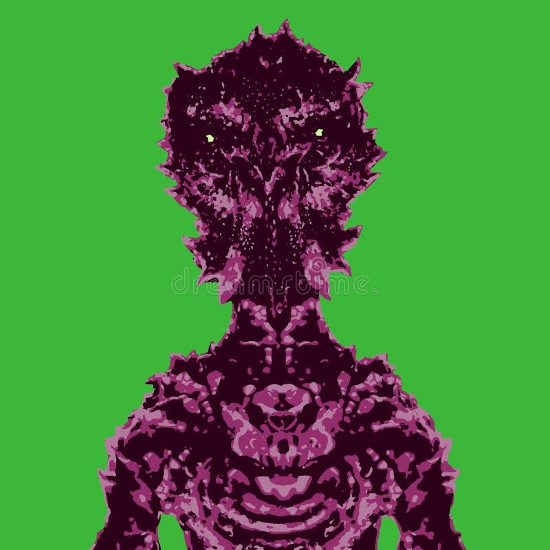 Оккупант космонавта Иллюстрация вектора на зеленой предпосылке бесплатная иллюстрация