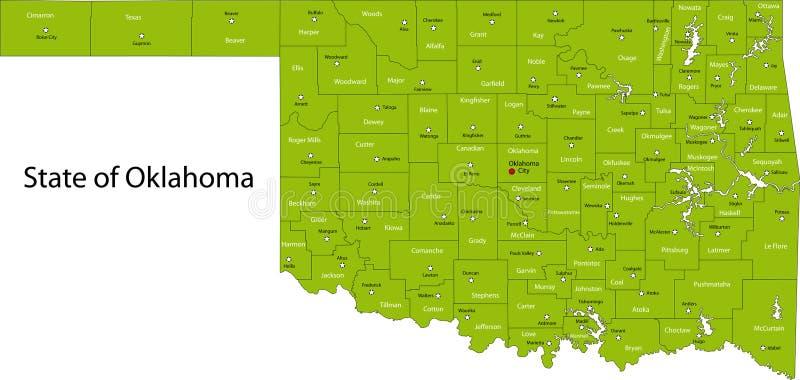 Оклахома иллюстрация штока