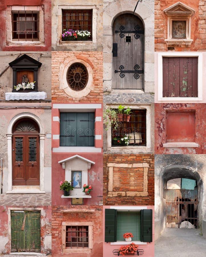 окна дверей стоковое фото