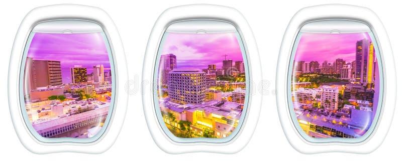 Окна иллюминатора Waikiki стоковое фото rf