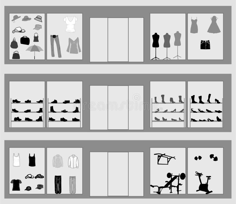 окна магазина иллюстрация вектора