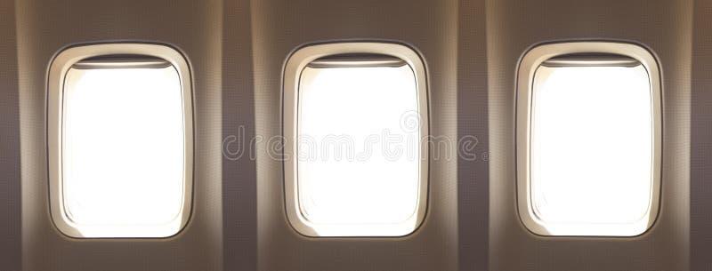 Окна самолета стоковая фотография rf