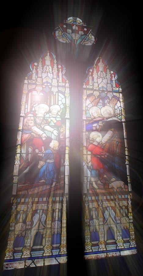 окна церков стоковое изображение