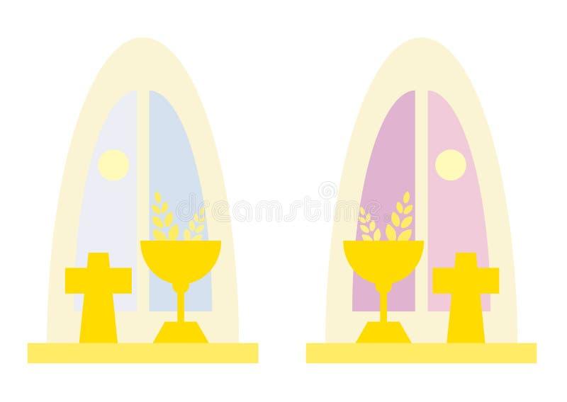 окна церков иллюстрация штока