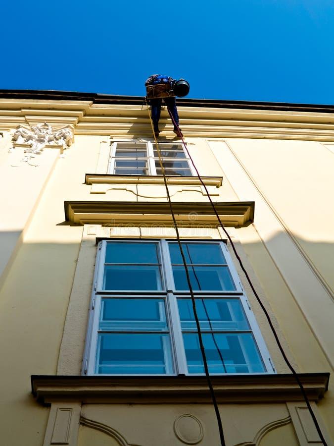 окна чистки стоковое изображение