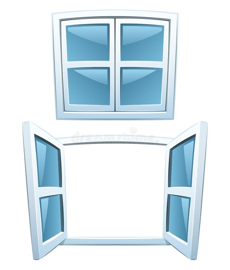 окна шаржа иллюстрация вектора