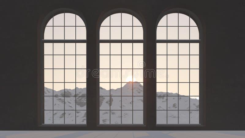 3 окна иллюстрация штока