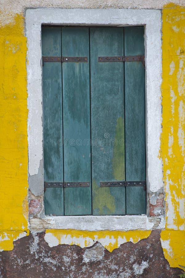 Окна Burano Венеции стоковое изображение rf