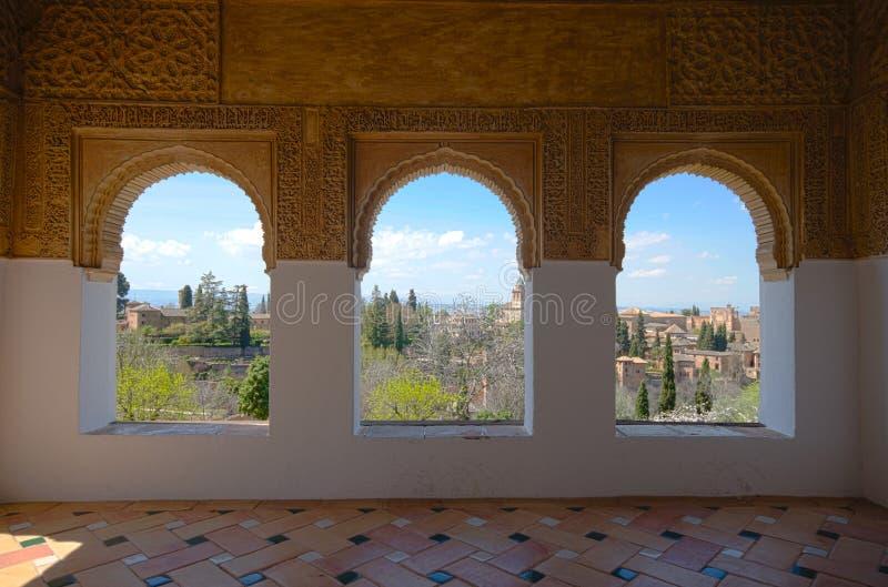 Окна Generalife стоковая фотография rf