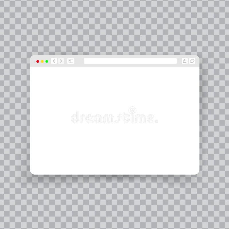 Окно браузера Элементы страницы платы рамки вебсайта модель-макета документа интернета экрана насмешки интерфейса сети плоские пу иллюстрация штока