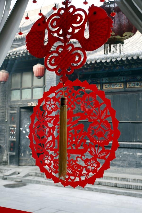 окно бумаги отрезока китайца стоковое изображение
