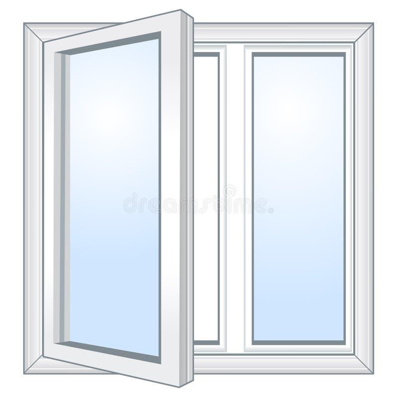 Окно вектора открытое иллюстрация вектора