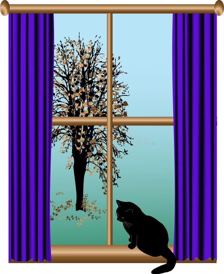 окно взгляда иллюстрация штока