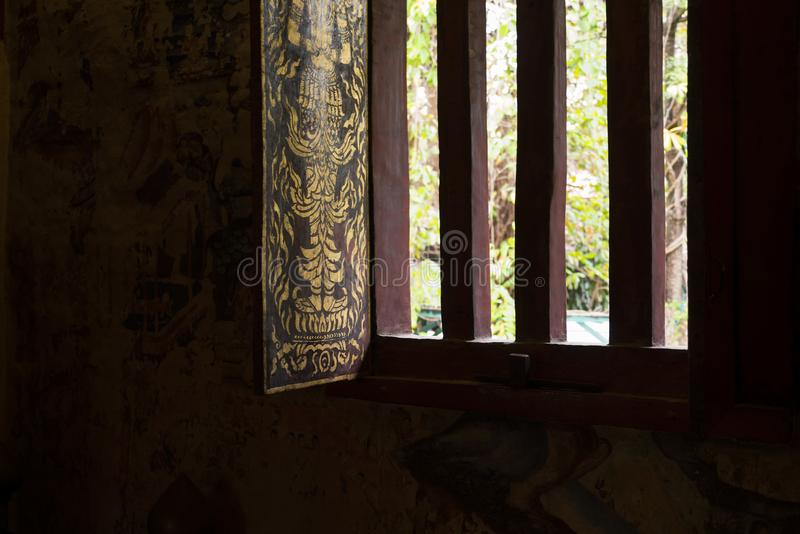 окно виска тайское стоковое фото rf