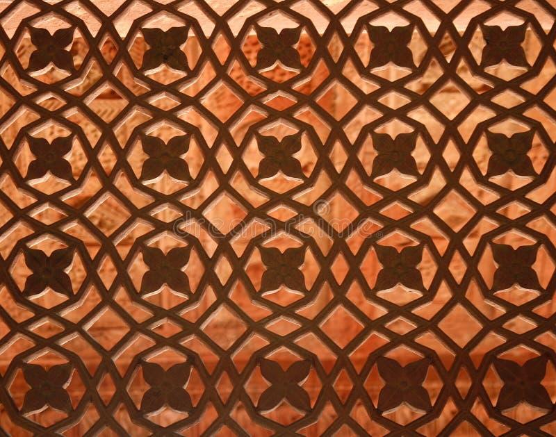 окно виска sikri Индии fatehpur стоковая фотография