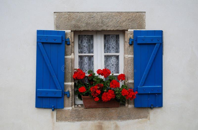 Окно в Бретан, Франции стоковое фото rf