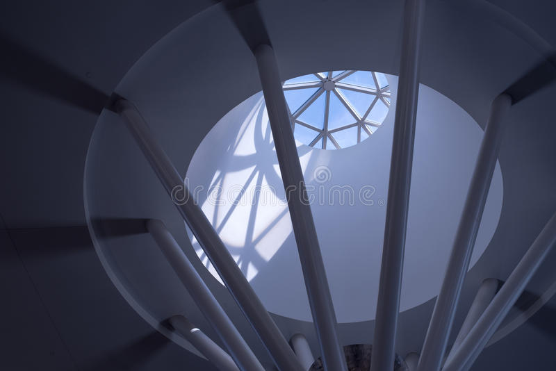 Окно в крыше на дворце соли стоковая фотография