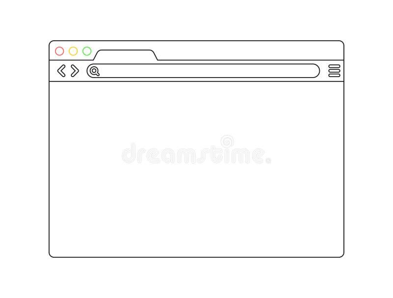окно голубого браузера предпосылки прозрачное Браузер в плоском стиле Интернет-браузер концепции окна Дизайн экрана модель-макета бесплатная иллюстрация