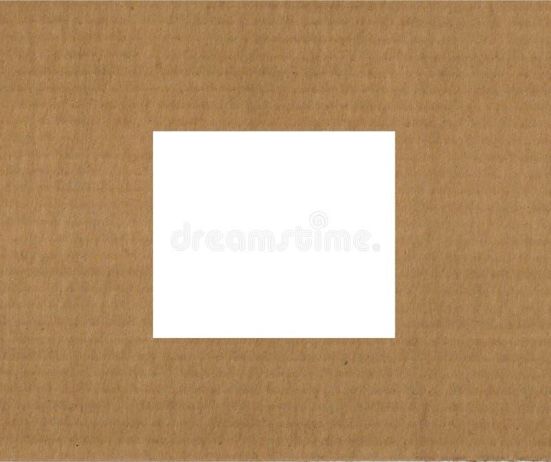 окно гофрированное картоном стоковое изображение