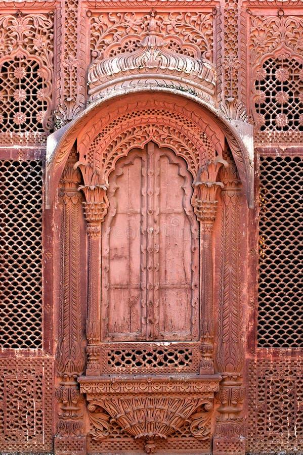 окно дворца maradja Индии jodhpur стоковое фото rf