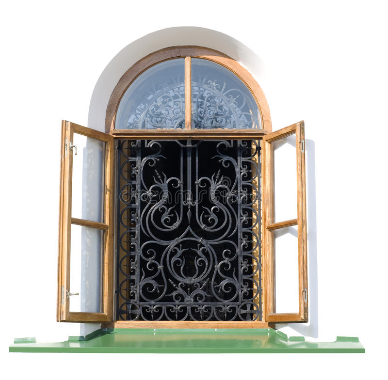 окно декоративной решетки открытое стоковые фотографии rf