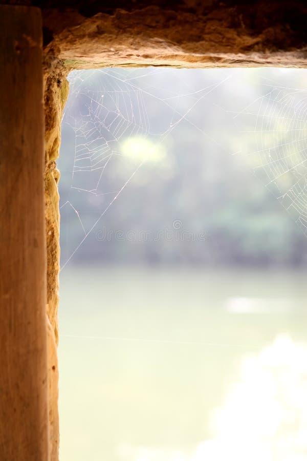 окно замока английское каменное традиционное стоковое изображение