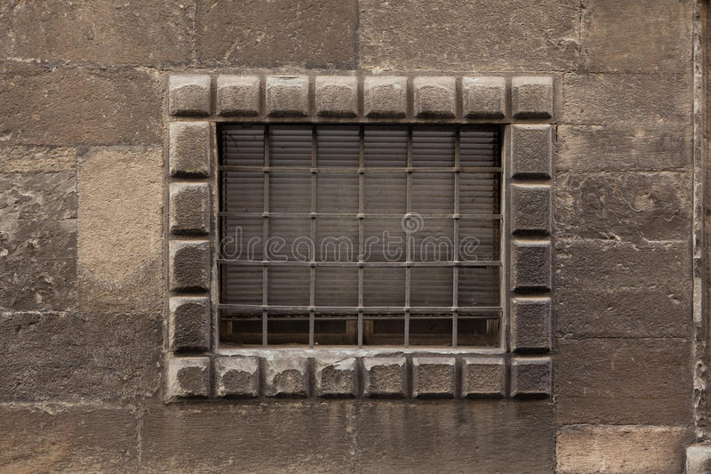 Окно запертое ренессансом в Бергаме, Италии стоковое изображение